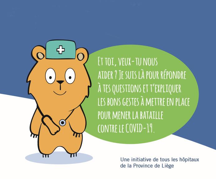 L'ourson Hospi répond aux questions des plus petits à propos du coronavirus.
