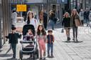 Een van de gezinnetjes in de Heuvelstraat in Tilburg