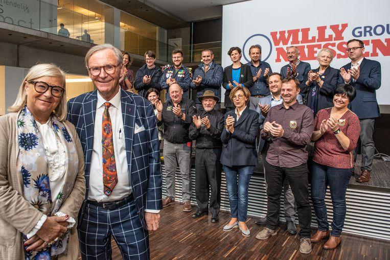Applaus voor het vrijgevige koppel Willy en Marie-Jeanne.