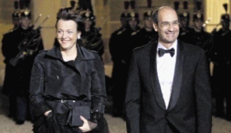 Minister Eric Woerth en zijn echtgenote Florence. (FOTO EPA) Beeld EPA