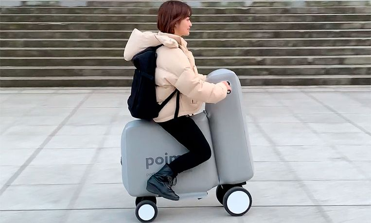 De elektrische scooter die in je rugzak past: Poimo