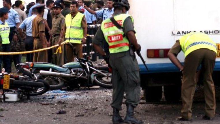 Politie onderzoekt de plek van de explosie. ANP Beeld