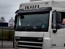 Eenzame chauffeur op truckstop Nobis naast A67