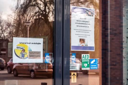 De entree van een verpleeghuis in Nijmegen.