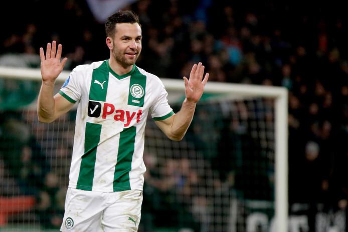 Thomas Bruns is gelukkig bij FC Groningen.