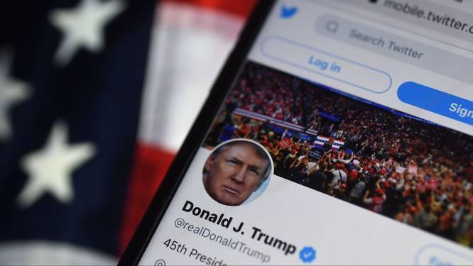 Aandelen Twitter fors omlaag na verbannen Trump