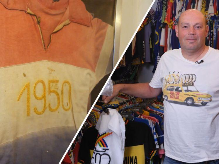 Ton Merckx heeft 2300 wielershirts: 'Zoektocht leuker dan wanneer je 'm hebt'