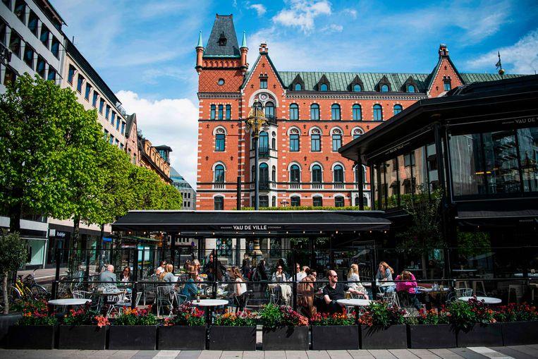 De restaurants en cafés zijn in Zweden altijd opengebleven.