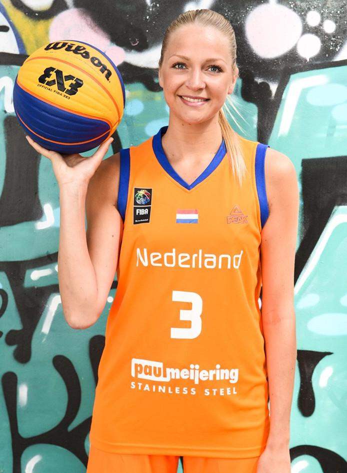 Basketbalster Loyce Bettonvil uit Den Bosch.