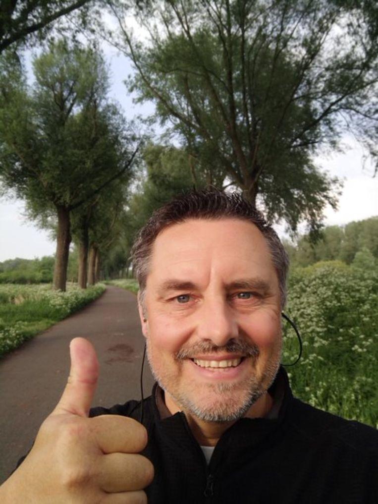 Een selfie van schepen Jan Rosseel tijdens een van zijn wandelingen.