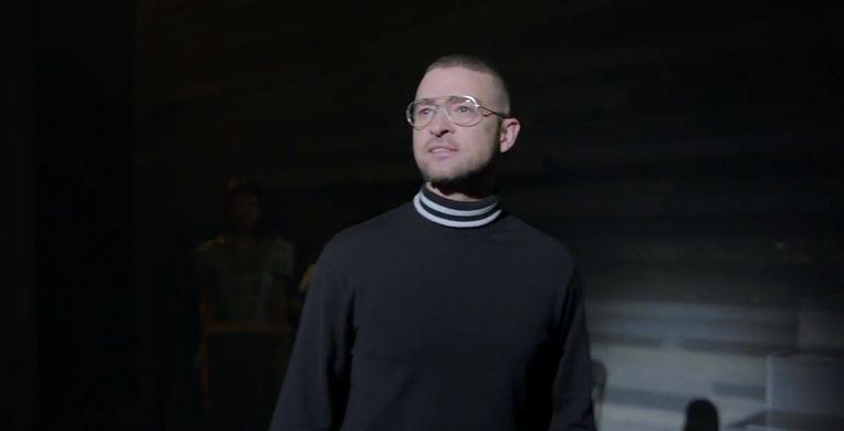 Justin Timberlake in zijn nieuwe videoclip.
