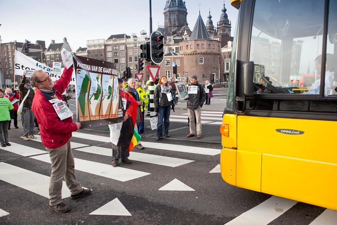 Protest tegen EBS in Amsterdam, in 2011.