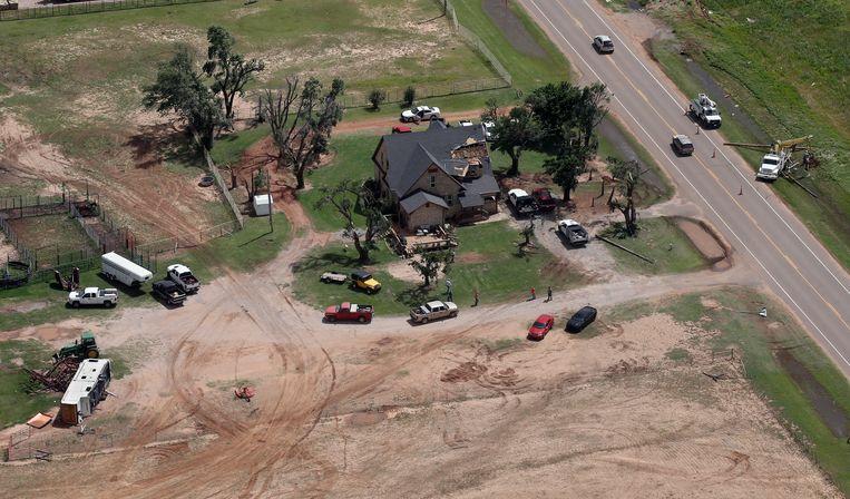 Maandag alleen al werden in het westen van Texas en het centrum van Oklahoma minstens 19 tornado's geteld.