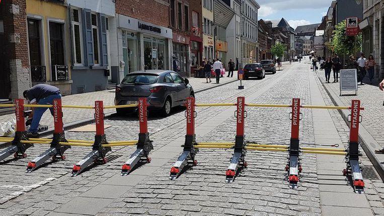 De mobiele barrière van het Belgische bedrijf Pitagone.