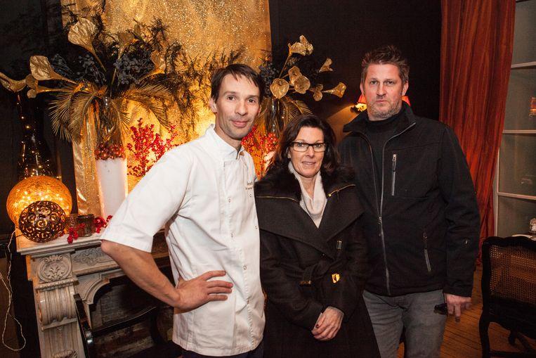 Vincent De Leenheer van Domestica, Mevrouw Snauwaert van Kapsalon Fidjo en Koen De Beir van de gelijknamige champagnebar in Onderbergen.