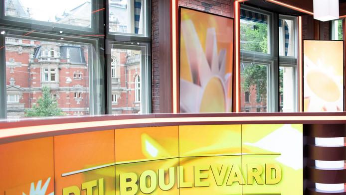 De studio van RTL Boulevard op het Leidseplein.