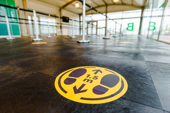 De extra grote teststraat op Rotterdam The Hague Airport.