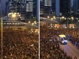 Duizenden demonstranten in Hong Kong wijken voor ambulance