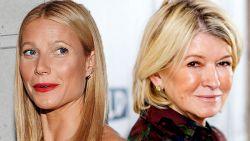 Waarom Gwyneth Paltrow en Martha Stewart in een 'open oorlog' verwikkeld zitten