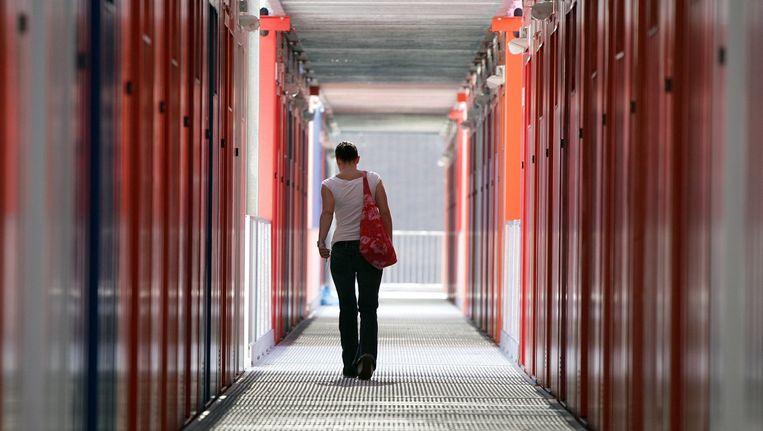 Studenten containerwoning in Amsterdam. Beeld anp
