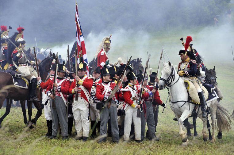 De meest recente reconstructie van de Slag om Waterloo, op 7 juni 2012.