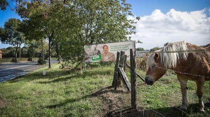 """Wegen en Verkeer verwijdert verkiezingsborden aan Gentsesteenweg: """"Niet toegelaten op openbaar domein"""""""