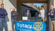 Rotary Zottegem schenkt Sint-Franciscusschool in Velzeke computers voor thuisonderwijs