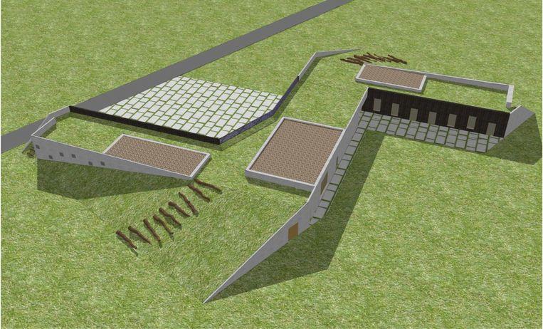 De jeugdlokalen zullen half ondergronds worden ingeplant zodat ze het landschap zo weinig mogelijk verstoren.