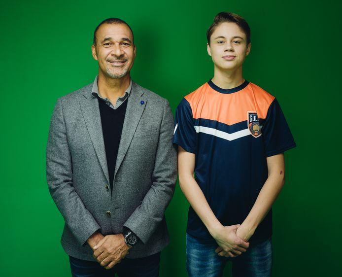 Dani (r) samen met Ruud Gullit.