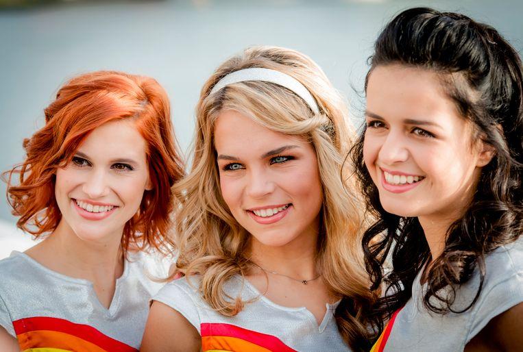 De echte K3: Marthe De Pillecyn, Hanne Verbruggen en Klaasje Meijer.