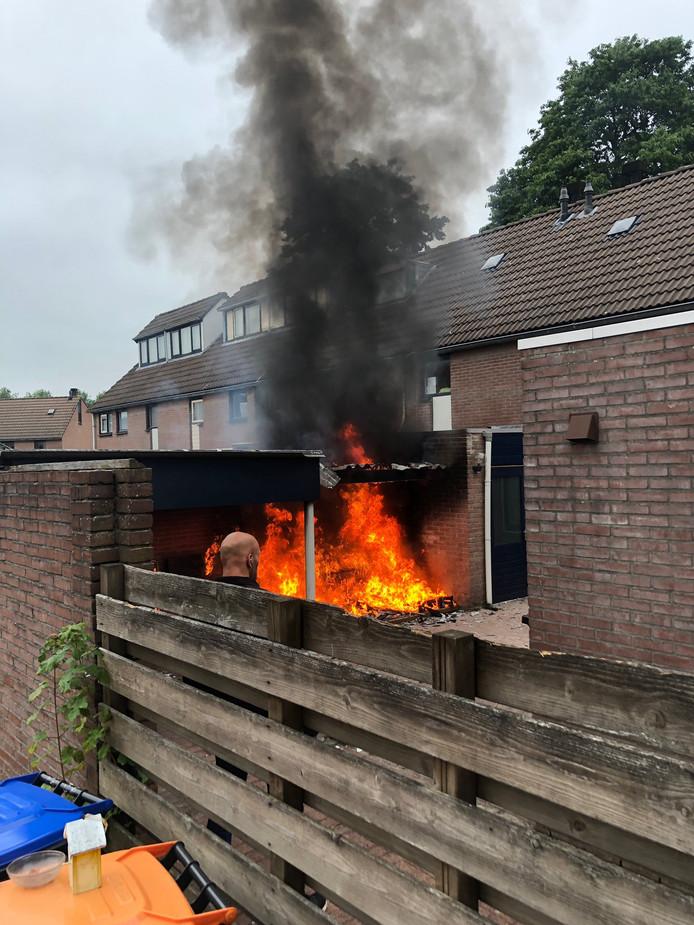 De brand in een schuurtje in Emmeloord.