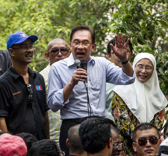 Oppositieleider Anwar Ibrahim.