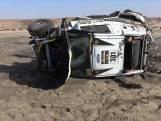 Heftig: rallyauto slaat 9 keer over de kop