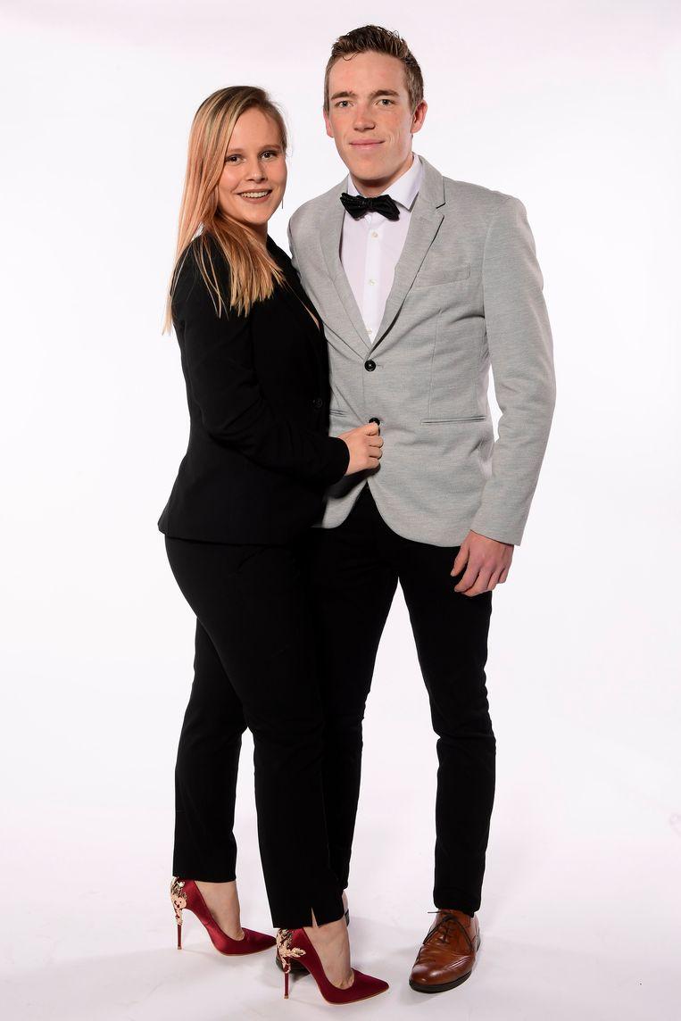 Stan Dewulf met Kayla van der Lint.