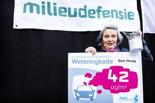 Milieudefensie voerde eerder al actie voor schone lucht in Den Haag en heeft de Nederlandse Staat eerder dit jaar voor de rechter gedaagd.