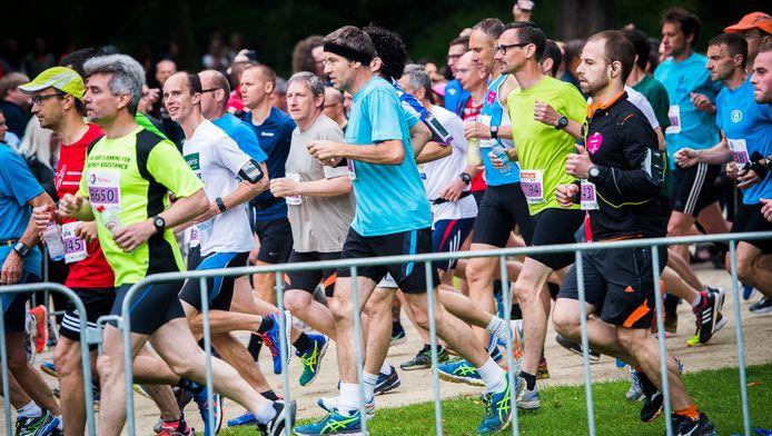 Des coureurs, lors des 20km de Bruxelles, en 2016.