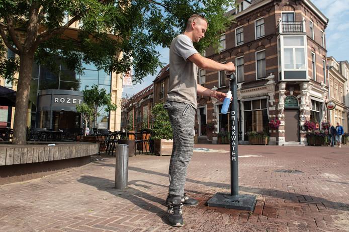 Het drinkwatertappunt bij Rozet in de Arnhemse binnenstad.