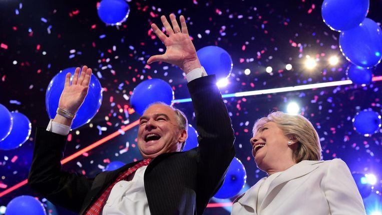 Tim Kaine en Hillary Clinton Beeld afp