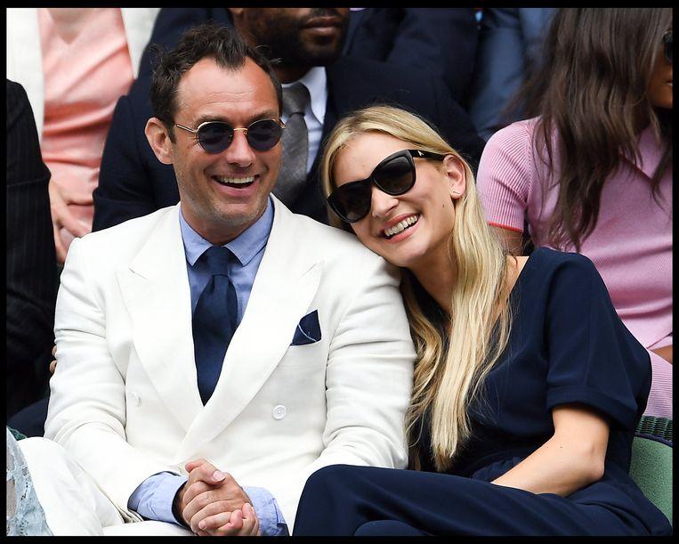 Jude met z'n huidige echtgenote Phillipa Coan
