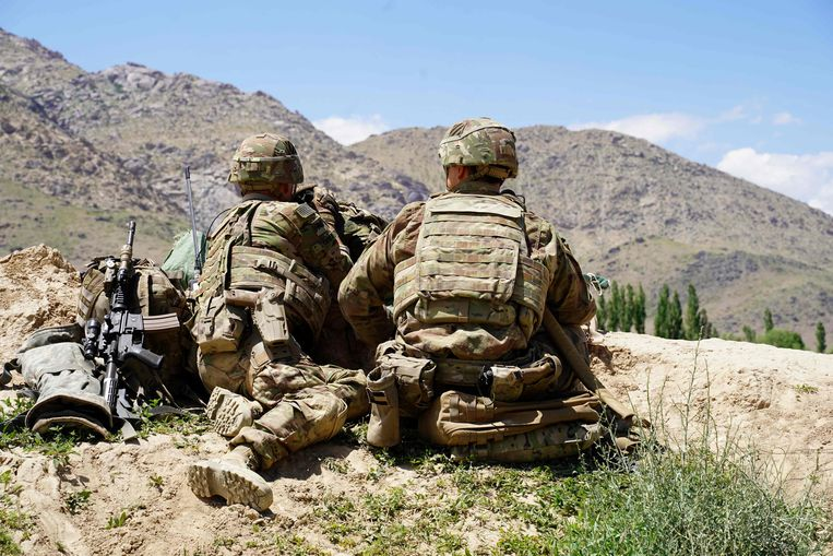 Amerikaanse militairen in de provincie Wardak, ten zuidoosten van de Afghaanse hoofdstad Kaboel. Beeld AFP
