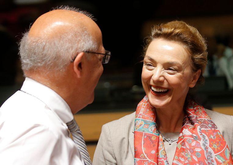 De Kroaatse minister van Buitenlandse Zaken Marija Pejcinovic Buric, de grote concurrent van Didier Reynders om secretaris-generaal van de Raad van Europa te worden.
