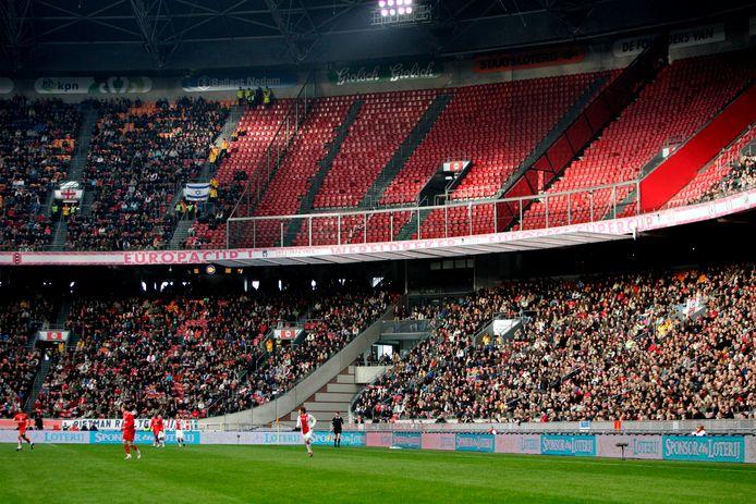 Een leeg uitvak in de Arena bij Ajax - FC Utrecht.
