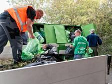 Deelnemers van de Arnhemse editie van World Clean Up Day rapen tweeduizend kilo zwerfafval op