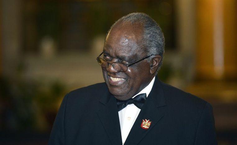 De Namibische president Pohamba. Beeld ANP