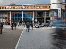 Drooglegging voorzijde station Den Bosch