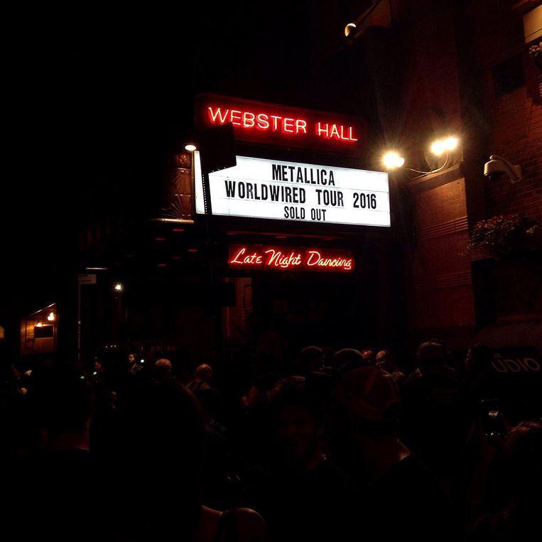 Metallica in de Webster Hall. Beeld