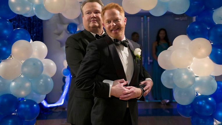 Gaykoppel Cameron en Mitchell in Modern Family Beeld Getty Images