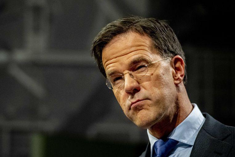 Hogerop kan niet meer, dus premier Rutter legde zich keurig neer bij het oordeel. Vanwege de machtenscheiding is de politiek uitgepraat. Beeld ANP