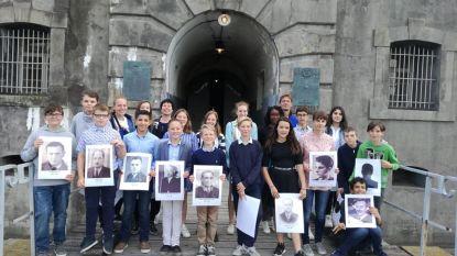 SMI-leerlingen in Fort Breendonk bij herdenking 75 jaar bevrijding