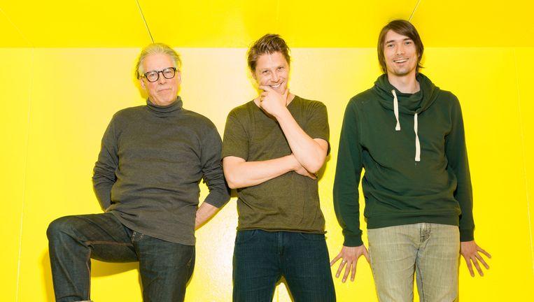 Vanaf links: Herman Gilis, Gijs Naber en Rik van den Bos. Beeld Ivo van der Bent